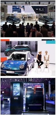 GWM revela seus novos carros na IAA Mobility 2021 para aproveitar o novo mercado de energia na Europa com a First-mover Advantage (PRNewsfoto/GWM)