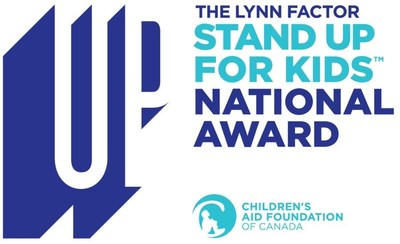 The Lynn Factor Stand Up for Kids National Award logo (CNW Group/Children's Aid Foundation of Canada)