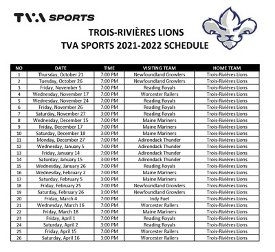 More than 25 games on TVA Sports during the Lions' first season (CNW Group/Videotron)