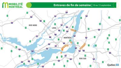 Planifier ses déplacements durant la fin de semaine du 10 AU 13 septembre - entraves majeures sur le réseau autoroutier
