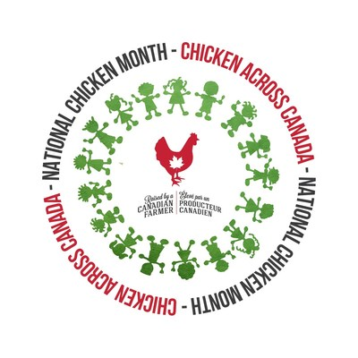 National Chicken Month Logo (CNW Group/Chicken Farmers of Canada)