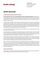 Lundin Mining Announces CEO Succession (CNW Group/Lundin Mining Corporation)
