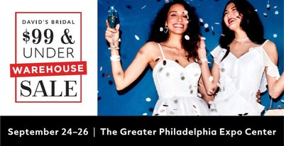 David's Bridal Announces First Ever Warehouse $99 and Under Sale with over 25,000 gowns, dresses and accessories - September 24-26 at the Greater Philadelphia Expo Center.