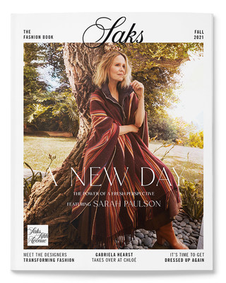 Sarah Paulson stars on the cover of Saks' Fall 2021 Women's Fashion Book