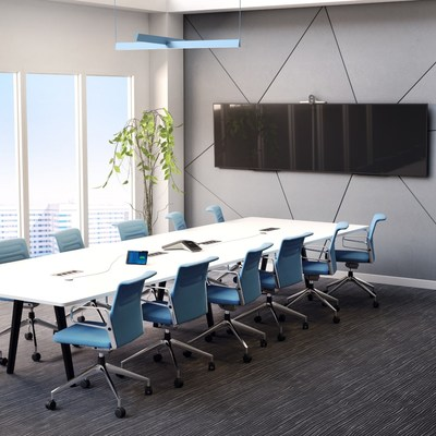 The Poly Studio E70 is designed to take hybrid meetings to the next level and deliver an equitable experience for all participants.