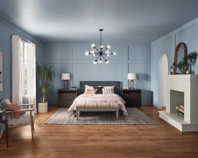 Influenced by our need to find respite from our day-to-day, Aleutian, the distinguished 2022 Color of the Year, is a beautiful, washed indigo that helps create a space for refuge.