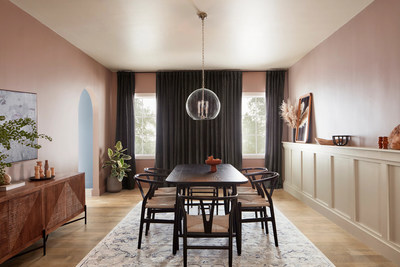 The HGTV Home by Sherwin-Williams 2022 Color Collection of the Year, Softened Refuge, is composed of soft and simple tones inspired by peacefulness with a focus on balanced and meaningful colors that help facilitate tranquility.