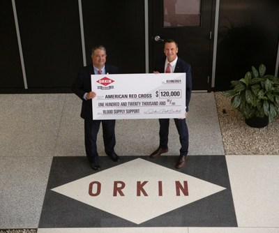 This year, in honor of the company's 120th anniversary, Orkin donated $120,000 to the Red Cross and encouraged the public to pledge to donate blood to the organization through a SleevesUp campaign – an effort that has encouraged hundreds of people, including Orkin employees, to donate blood.