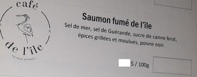Saumon fumé de l'Ile (Groupe CNW/Ministère de l'Agriculture, des Pêcheries et de l'Alimentation)