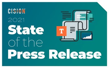 Cision's 2021 State of the Press Release Report.