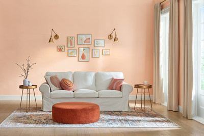 Sunset Curtains – We have embraced warm neutrals back into the home for comfort – a familiar hue that is reassuring.