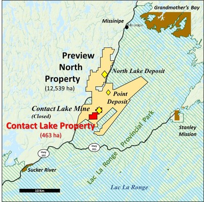 Figure 1: Contact Lake Property Location Map (CNW Group/MAS Gold Corp)