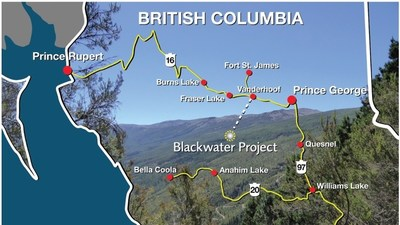 Figure 4 – Blackwater Project Location Map (CNW Group/Artemis Gold Inc.)