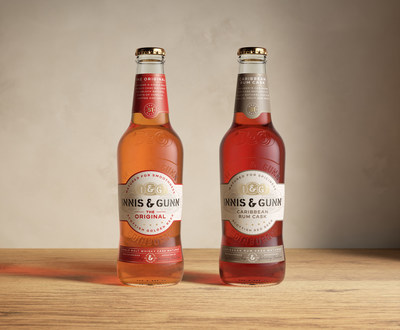 The Innis & Gunn Originals line feature a new pack, bottle and label design.