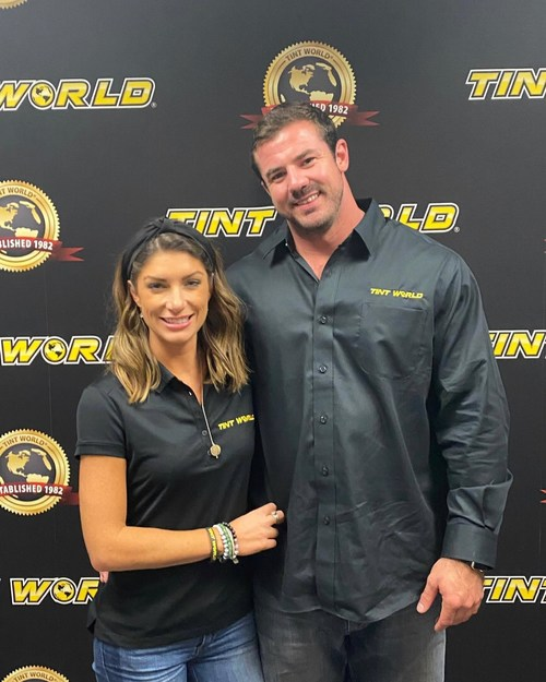 Tint World®, a leading auto accessory and window tinting franchise, continues its growth in Georgia with the opening of a brand new location in Kennesaw under the ownership of Michael Kruse (pictured with his wife, Lauren).