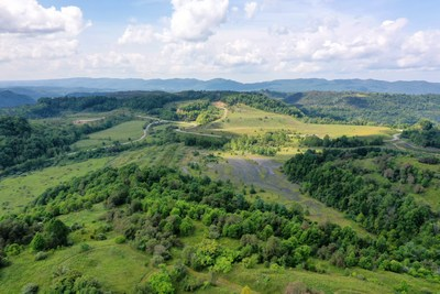 The former Red Onion surface mine in Wise County, Va., site of the proposed Highlands Solar project.