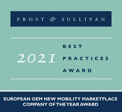 2021 European OEM New Mobility Marketplace Company of the Year Award