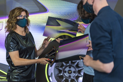 The Color&Trim team made a revolutionary change in the brand's aesthetics influenced by videogames (PRNewsfoto/CUPRA)