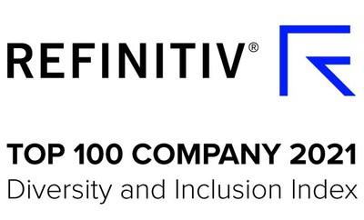 REFINITIV(R) TOP 100 COMPANY 2021 Diversity and Inclusion Index (Groupe CNW/RBC Groupe Financier)