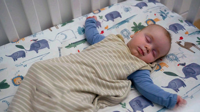 Baby sleeping 12 hours at night, thanks to Tinyhood's online class, Sleep 101: The Baby Sleep Solution (4-24 months).