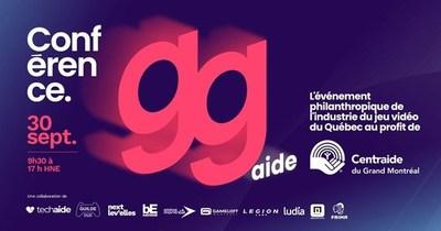 GGaide : Le nouvel événement philanthropique de l'industrie québécoise du jeu vidéo au profit de Centraide du Grand Montréal (Groupe CNW/Techaide)