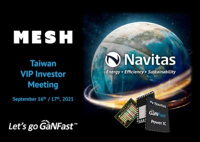 Navitas To Present Next-Gen Semiconductors at Taiwan VIP Investor Meeting