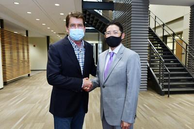 Hyosung Chairman Cho Hyun-joon and Bill Hackerty, Senator of Tennessee