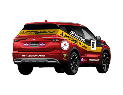 Artist rendering of Mitsubishi Motors' Rebelle Rally Team #207 vehicle