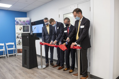 Pictured from left to right: Howard Federoff, M.D., Ph.D., CEO of Brooklyn ImmunoTherapeutics, Inc. (NYSE American: BTX); Christopher Rohde, Ph.D., Co-Founder and Chief Technology Officer of Factor Bioscience Inc.; Gregory Fiore, M.D., Co-Founder and CEO of Exacis Biotherapeutics Inc.; Matt Angel, Ph.D., Co-Founder, Chairman, and CEO of Factor Bioscience Inc.