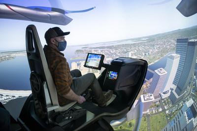 Le simulateur d'ingénierie de BETA Technologies - CAE et BETA Technologies annoncent un partenariat stratégique portant sur un programme de formation des pilotes et des techniciens de maintenance (Groupe CNW/CAE INC.)