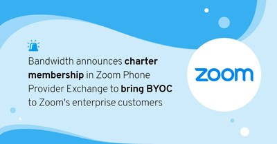 Zoom Phone Provider Exchange enables enterprise customers to unbundle telephony and work directly with Bandwidth in a BYOC strategy.
