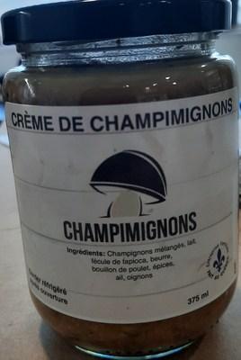 Crème de champimignons (Groupe CNW/Ministère de l'Agriculture, des Pêcheries et de l'Alimentation)