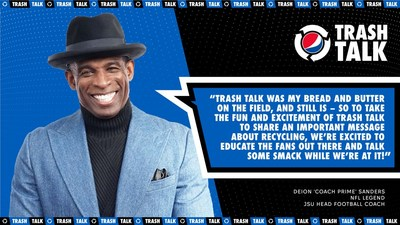 PEPSI® RECRUITS NFL SUPERSTARS TO TEACH FANS HOW TO TALK TRASH – AND RECYCLE – THIS FOOTBALL SEASON