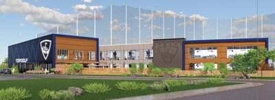 Rendering of the future Topgolf Boise sports entertainment venue