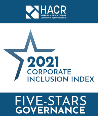 Comerica Bank earns Five-Stars Governance recognition as part of HACR 2021 Corporate Inclusion Index.