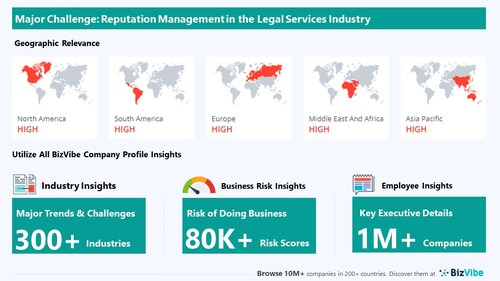 Snapshot of key challenge impacting BizVibe's legal services industry group.