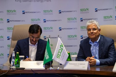 Mr. Mohammed Y. Al-Qahtani (right), Chairman of SPARK and Mr. Saif Al Qahtani (left), SPARK President and CEO attended the online signing ceremony