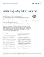 """Mesirow Currency Management Publishes Study on """"Enhancing ESG Portfolio Returns: Could Currency Alpha be an Answer?"""""""