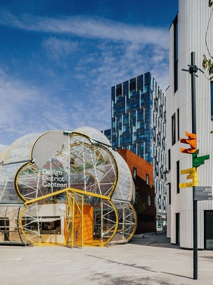 Design District on Greenwich Peninsula, London's first permanent, purpose-built hub for the creative industries, conceived and developed by Knight Dragon, and designed by eight leading architects. Credit: TARAN WILKHU (PRNewsfoto/Greenwich Peninsula)