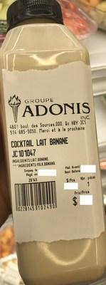 Cocktail Lait Banane (Groupe CNW/Ministère de l'Agriculture, des Pêcheries et de l'Alimentation)
