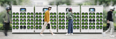 Gogoro's battery swapping ecosystem is an established leading solution for electric refueling of lightweight urban vehicles. In less than five years, the Company has accumulated over $1 billion in revenue and 400,000+ battery swap subscribers. (PRNewsfoto/Gogoro)