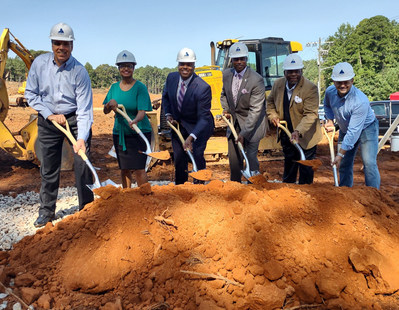 Shown, from left, are Duncan Gibbs, TriStar; Audrea Rease, Star-C; Morcease Beasley, Clayton County Public Schools; Jeff Turner, Clayton County Board of Commissioners; Michael Bryant, Housing Authority of Clayton County; and Tab Bullard, Zimmerman Properties.