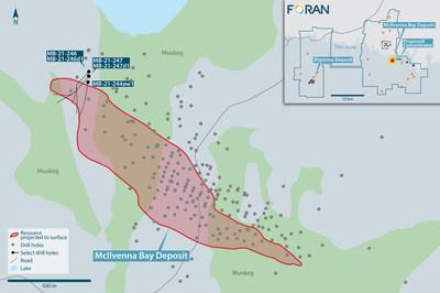 Figure 1: Drill Plan Map (CNW Group/Foran Mining Corporation)