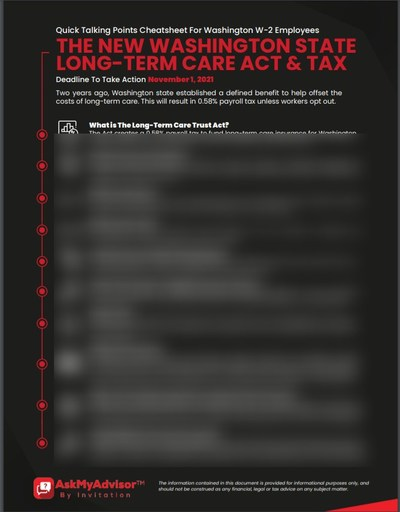 The talking point cheatsheet makes it easy to talk your Washington state based clients through this new tax.