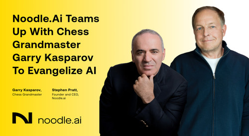 Noodle.ai Teams with Chess Grandmaster Garry Kasparov to Evangelize 'Human + Machine Intelligence' to Save the Planet