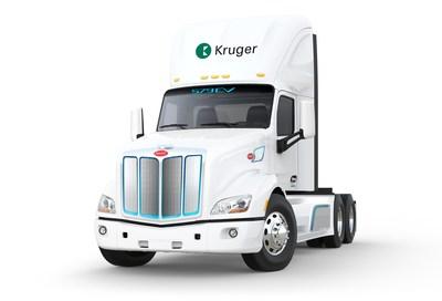 Camion modèle 579EV (Groupe CNW/Kruger Énergie)
