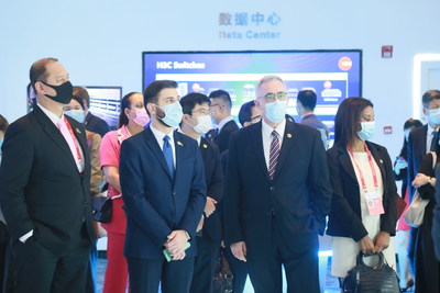 The delegation of Ambassadors learned about H3C's latest innovative products and solutions during the visit