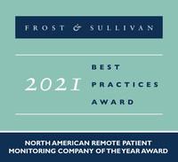 2021 North American Remote Patient Monitoring Company of the Year Award (PRNewsfoto/Frost & Sullivan)