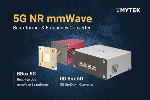 TMYTEK Unveils the New 5G Millimeter Wave Beamformers and Frequency Converters with Full FR2 Spectrum Designed for mmWave Antenna and Algorithm Developers, Speeding 20X Faster R&D Time TMY Technology, Inc. (TMYTEK), the world's leading millimeter-wave solutions provider headquartered in Taiwan, today announced its 5G mmWave beamformers and frequency converters that support both 28GHz and 39GHz with the full 5G FR2 spectrum coverage for antenna and algorithm developers.