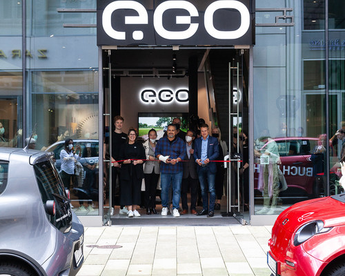 Opening of an iconic e.GO Brand Store in Hamburg, Germany (PRNewsfoto/e.GO Mobile)